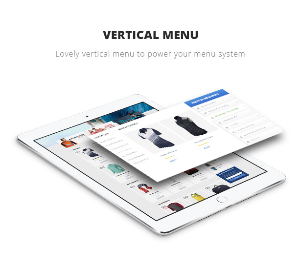 vertical menu