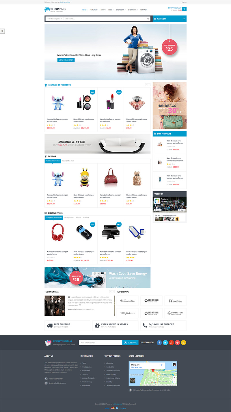 Shopping-WooComerce WordPress Themes
