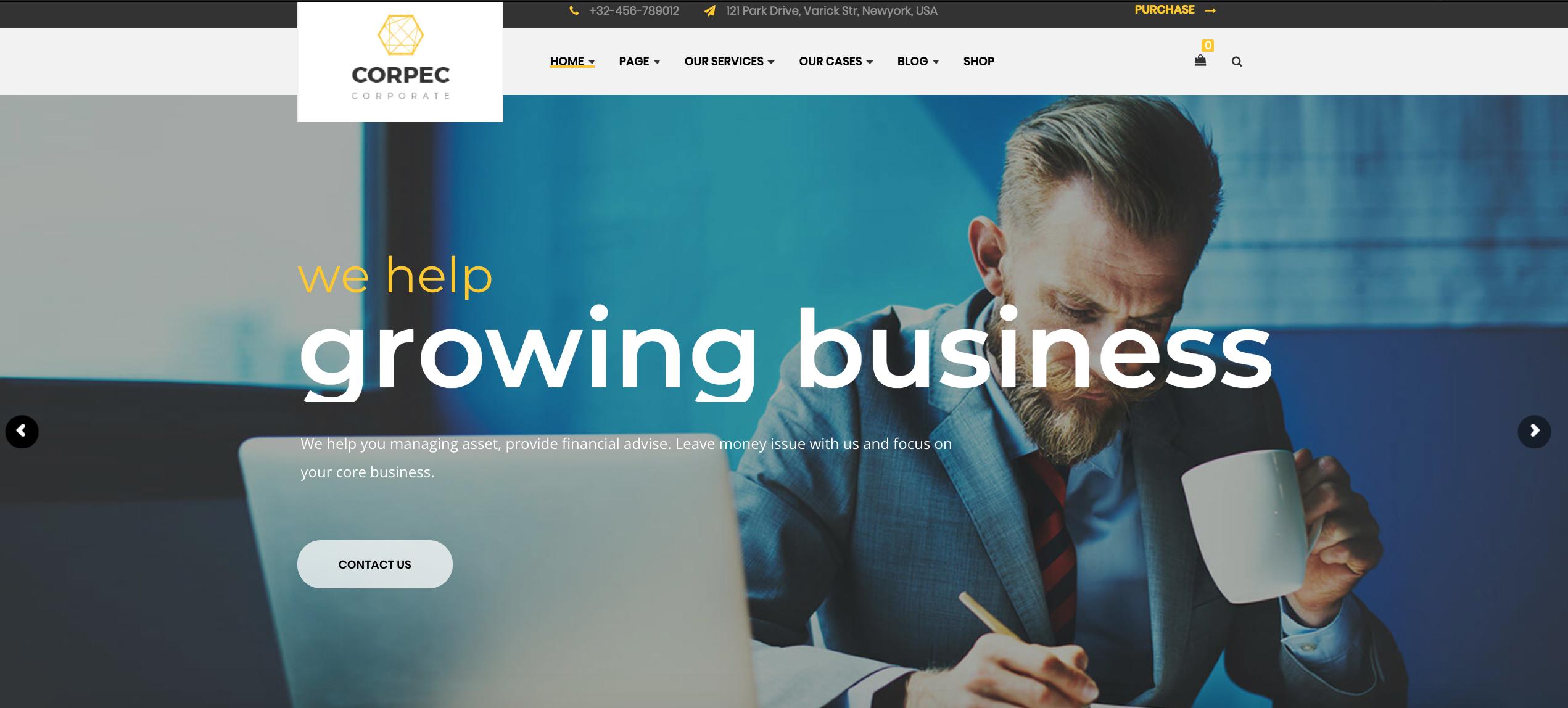 Corpec - Corporate WordPress Theme
