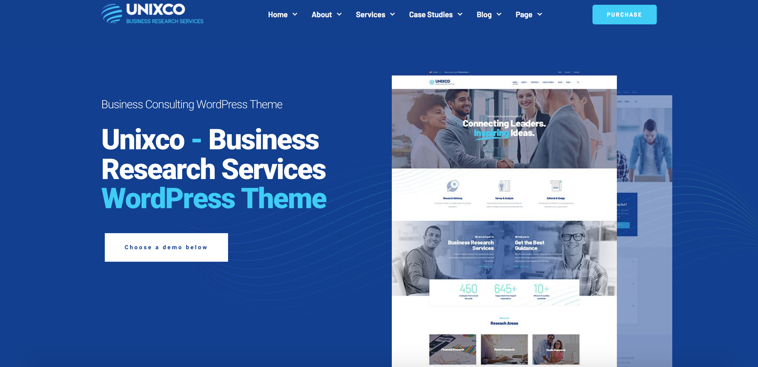 Unixco - Business Research Services WordPress Theme