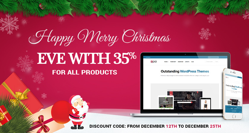 Happy Merry Christmas Eve with 35% for all products