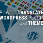 how to translate wordpress plugin and theme