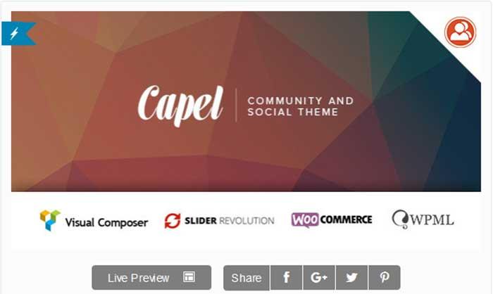 Welcome Caple Multi-Purpose BuddyPress WordPress Theme