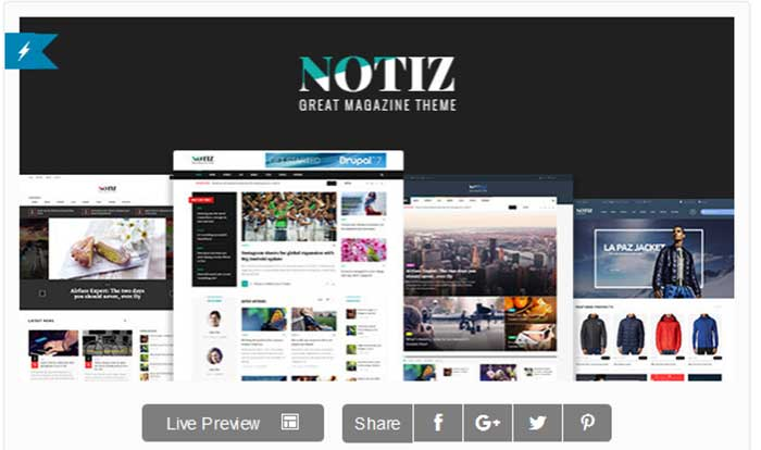 Notiz Clean Magazine WordPress Theme Released