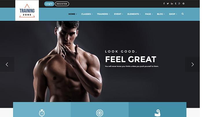 Review Training Zone – Gym & Fitness WordPress Theme