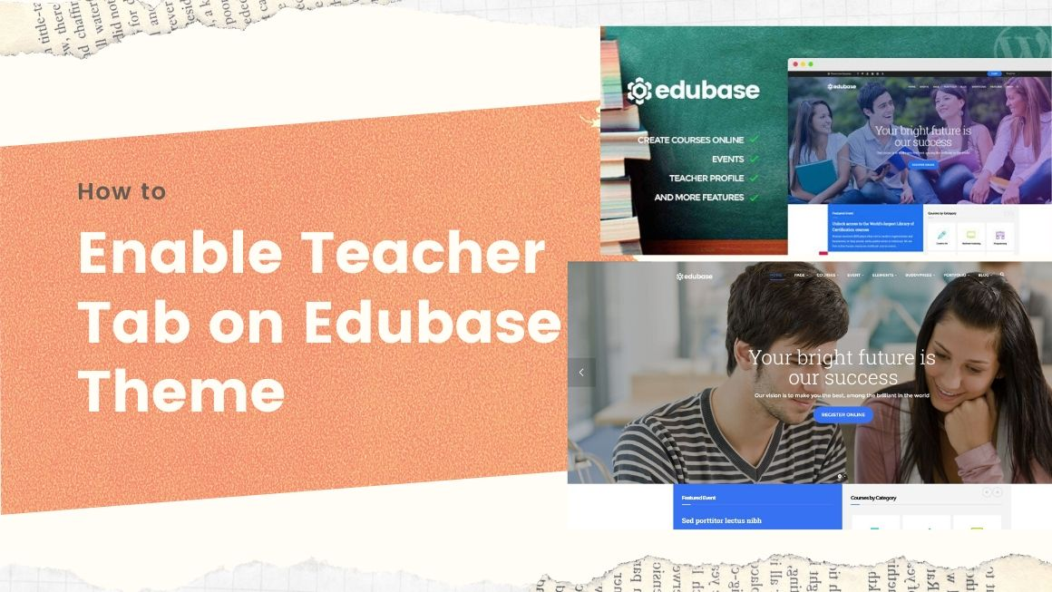 enable Teacher Tab on Edubase Theme