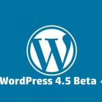 WordPress 4.5 Beta 4