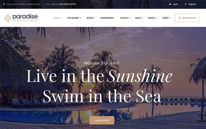 Paradise-WordPress-Theme