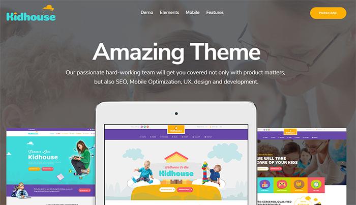 KidHouse - School Education WordPress Theme for Children