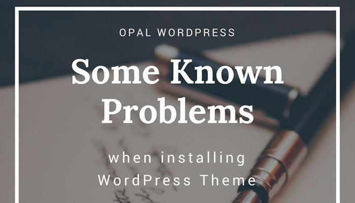 some known errors when installing WordPress Theme
