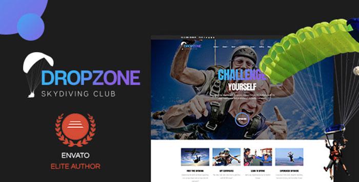 Dropzone - Skydiving Club Responsive WordPress Theme