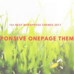 Best Onepage WordPress Themes 2017