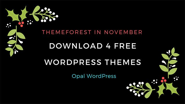 download 4 free wordpress themes on Themeforest
