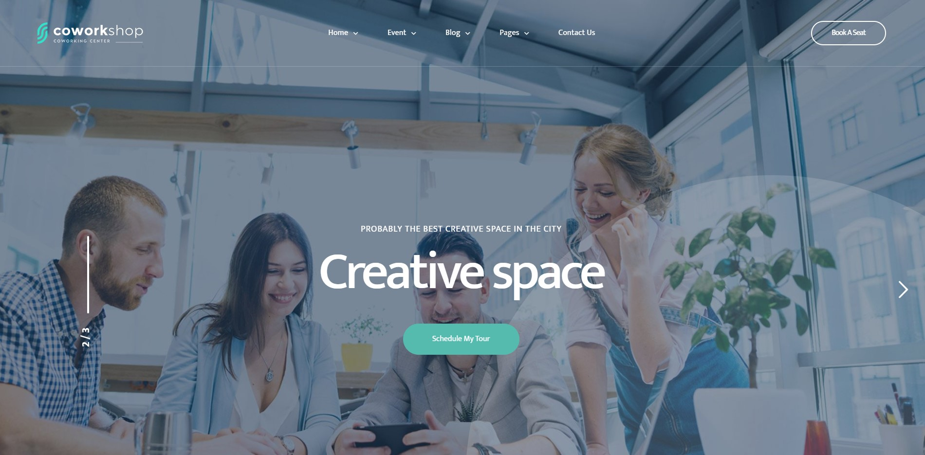 Coworkshop - Coworking Space WordPress Theme