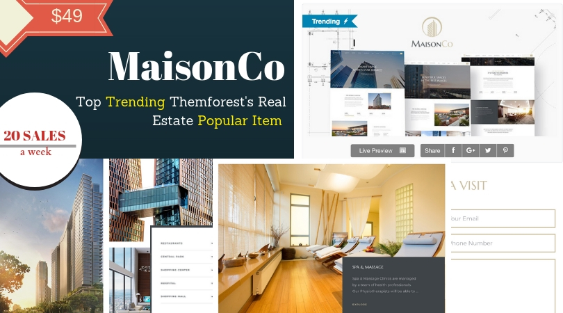 MaisonCo Rockets Only 1 Week To Be Themforest's Real Estate Popular Item