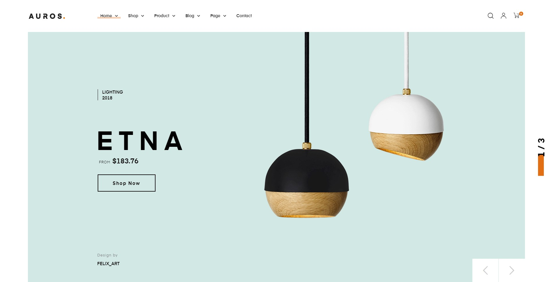 Auros - the best furniture wordpress themes