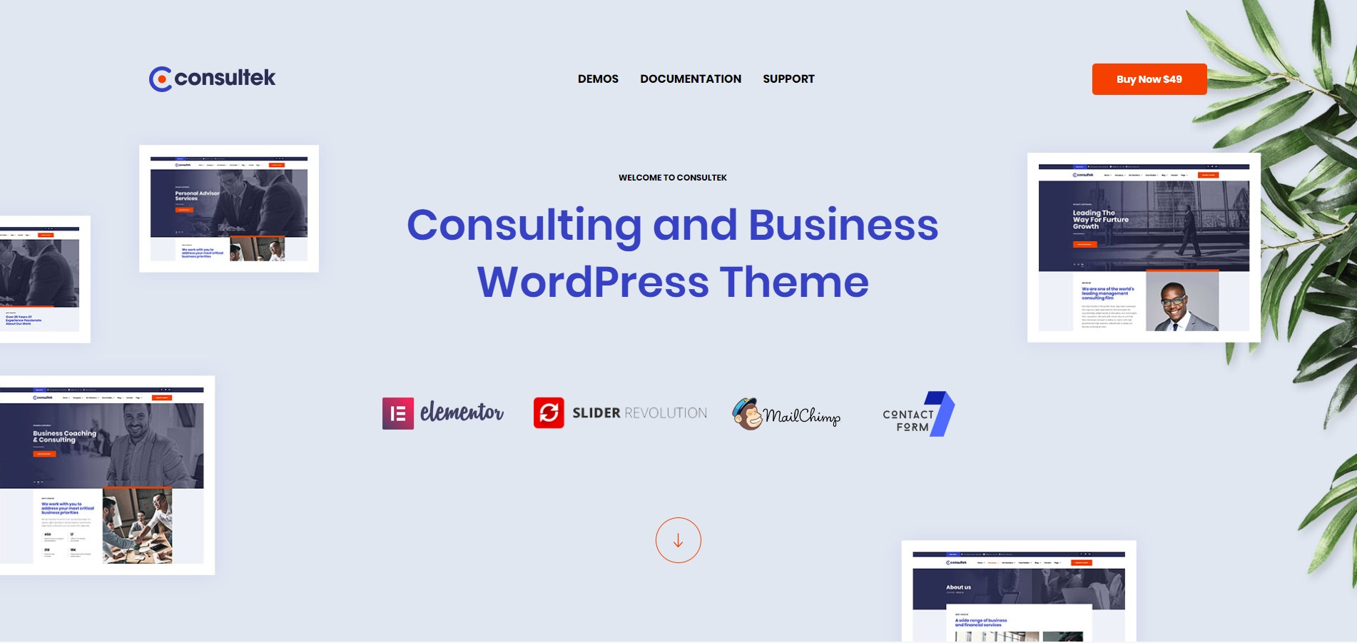 Consultek - Consulting Business WordPress Theme
