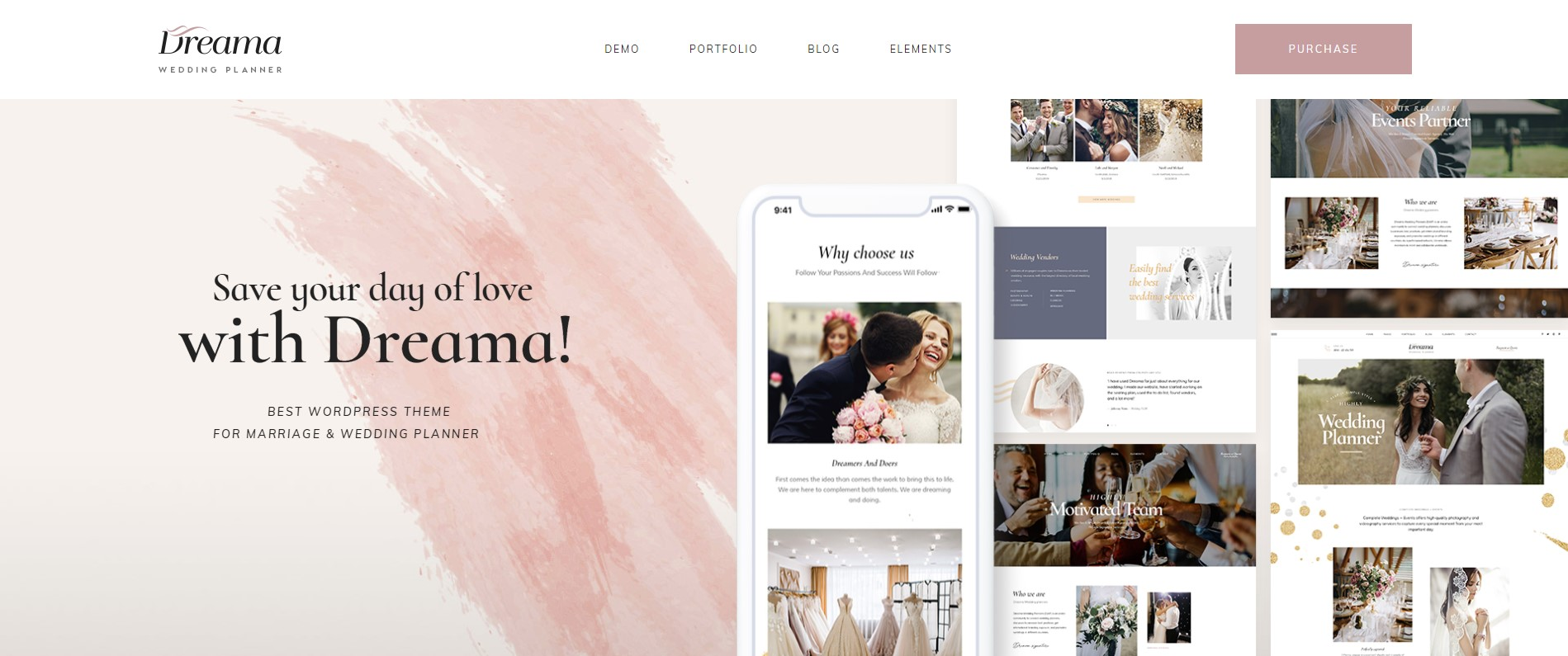 Dreama review Wedding WordPress Theme