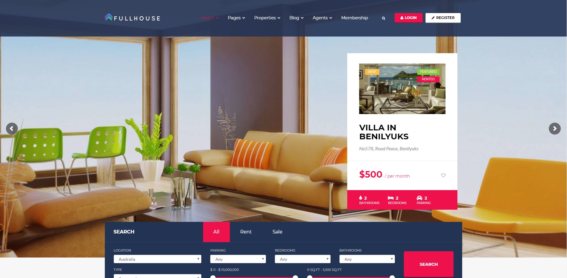 FullHouse - Real Estate WordPress Theme