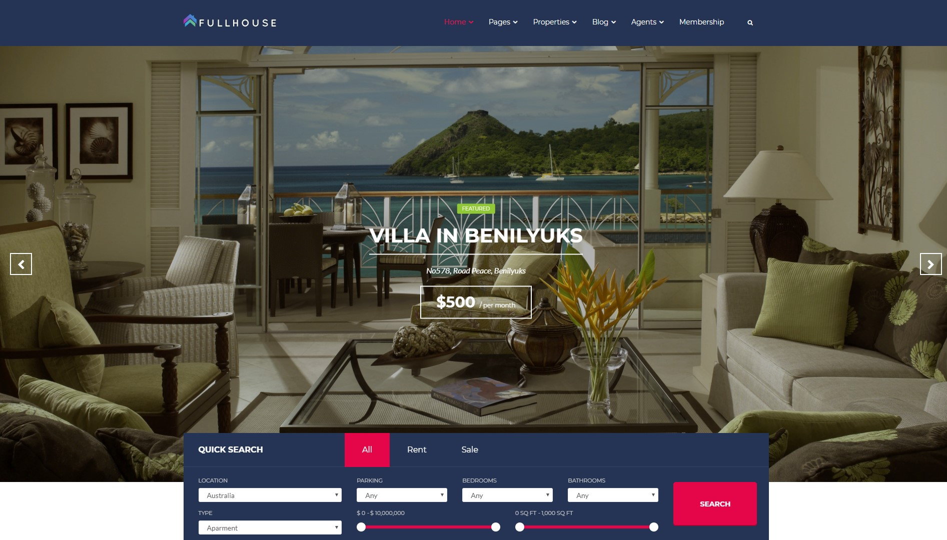 Fullhouse - best Real Estate WordPress Themes 1