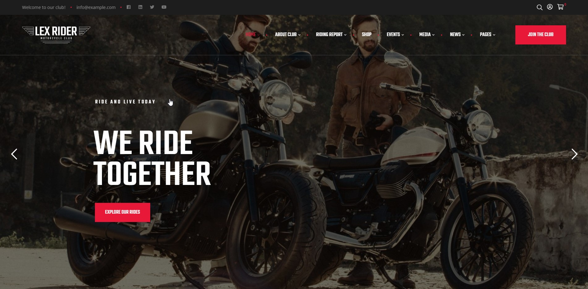 LexRider - Motocycle WordPress Theme