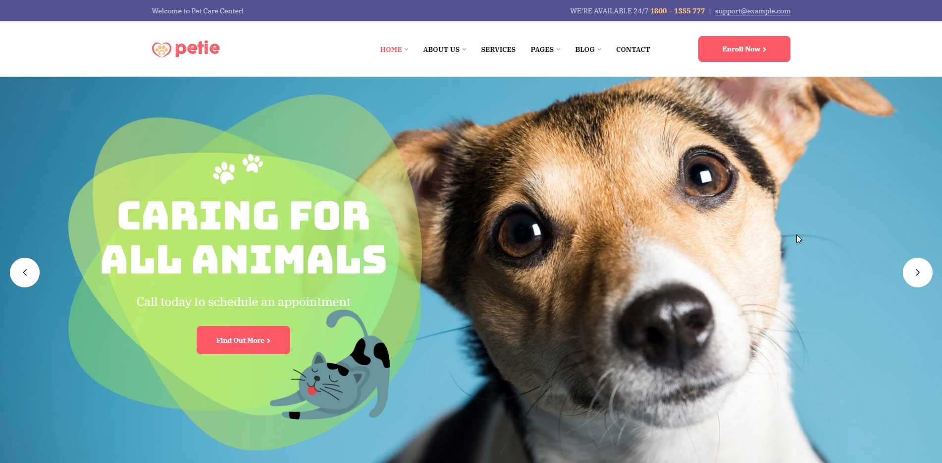 Petie - Pet Center WordPress Theme