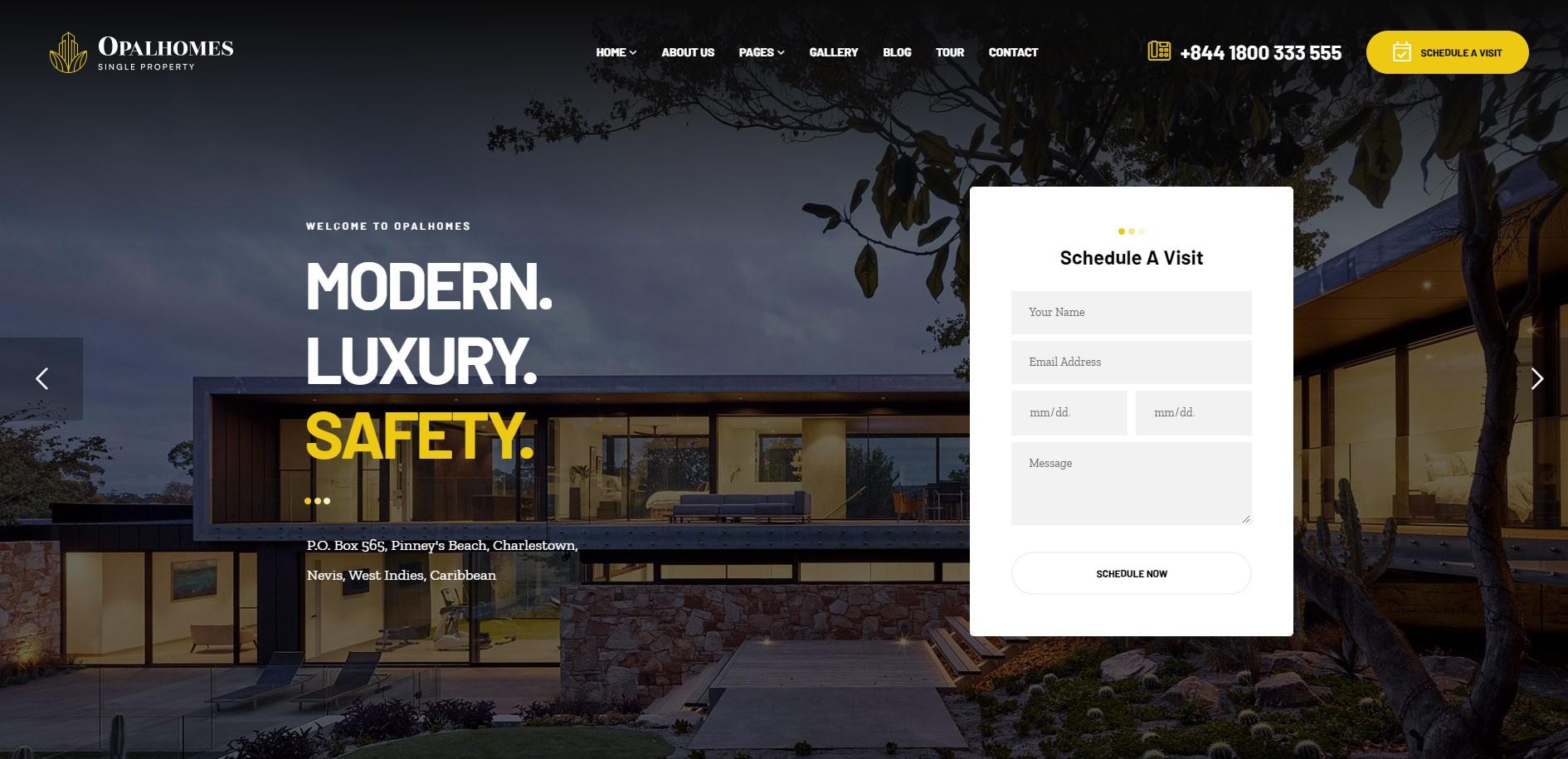 opal home real estate wordpress theme
