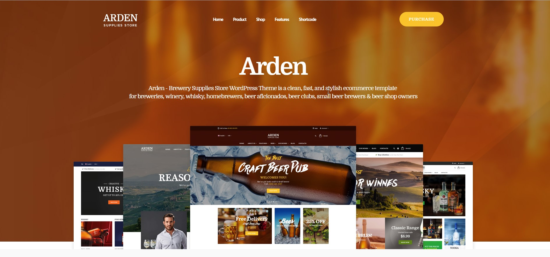 Arden Modern Brewery & Pub WordPress Theme