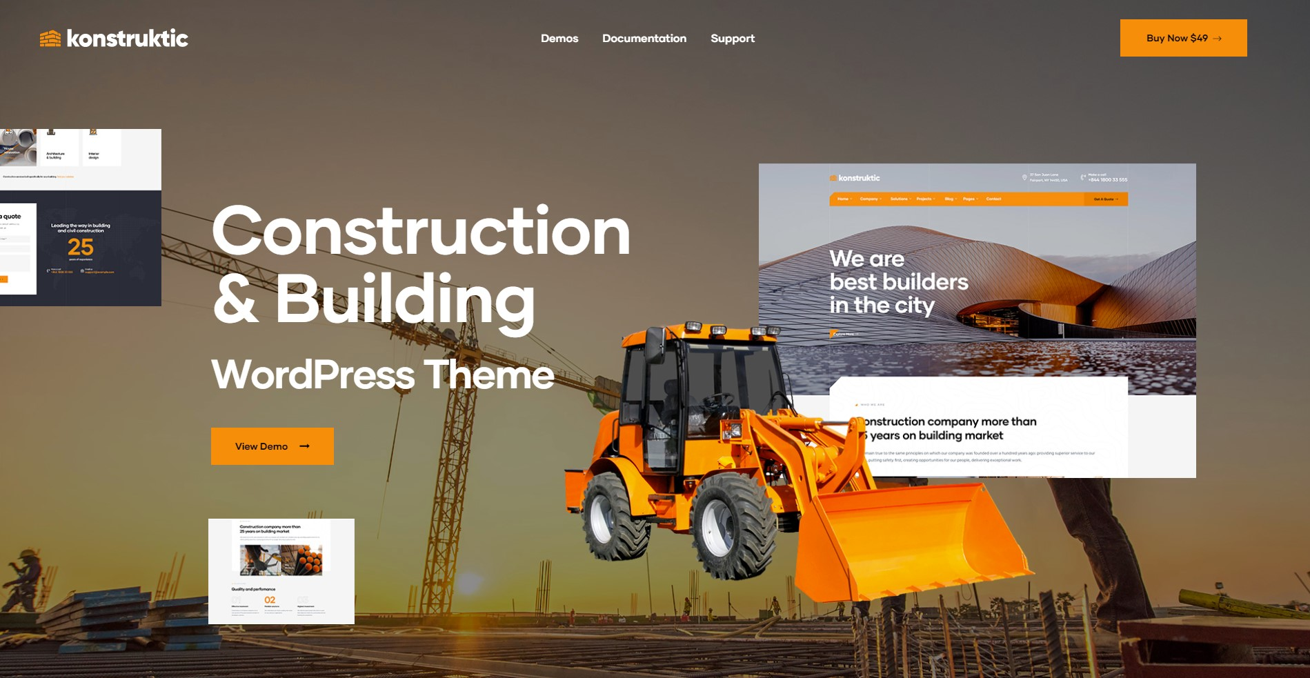 Konstruktic Best Construction WordPress Themes