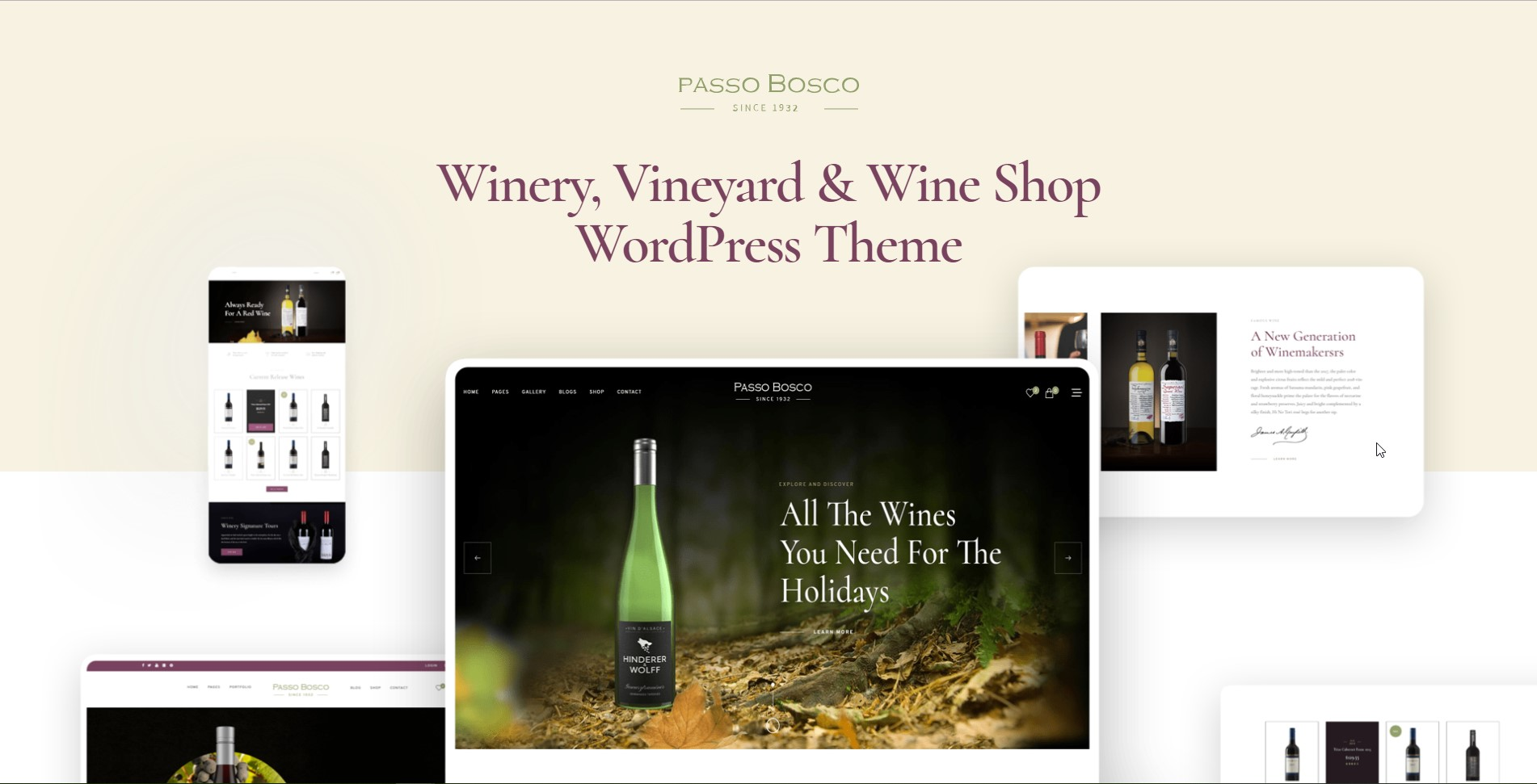 Passo Bosco Wine & Winery WordPress Theme