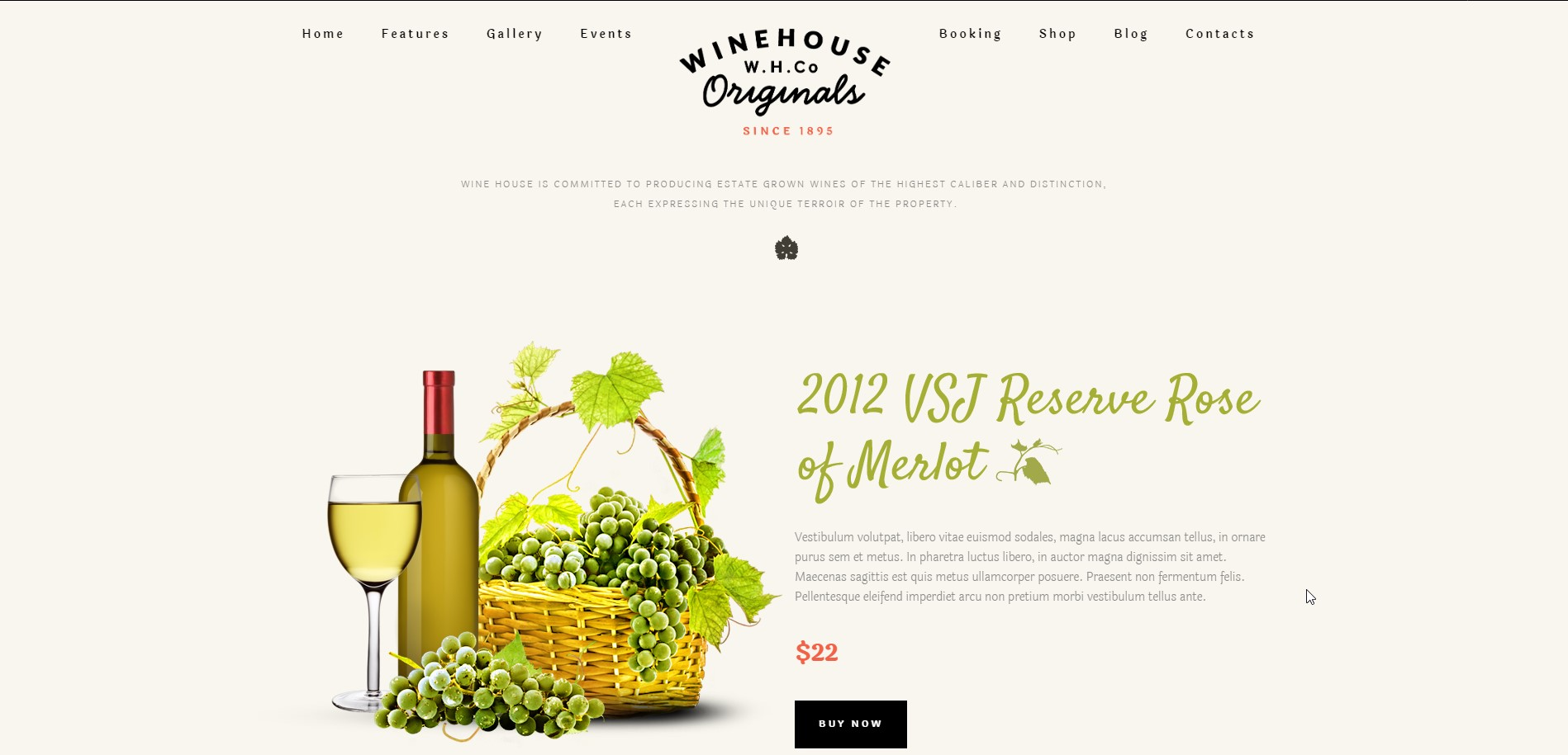 Wine House Winery & Restaurant WordPress Theme