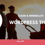 best clean & minimalist WordPress Theme