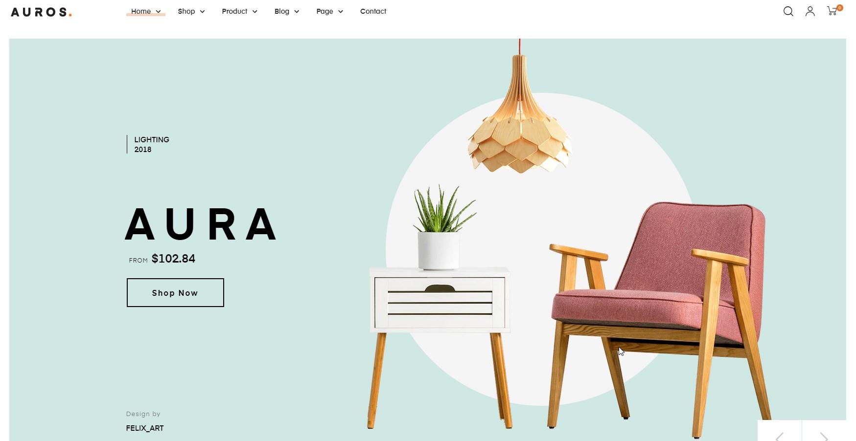 Auros - Furniture Elementor WooCommerce WordPress Theme