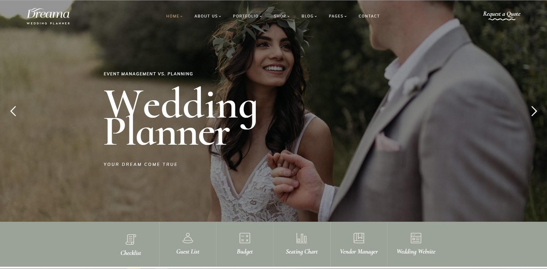 Dreama - Wedding Planner WordPress Theme