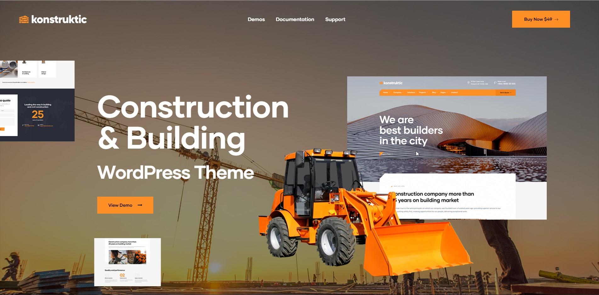 Kontruktic - Construction WordPress Theme