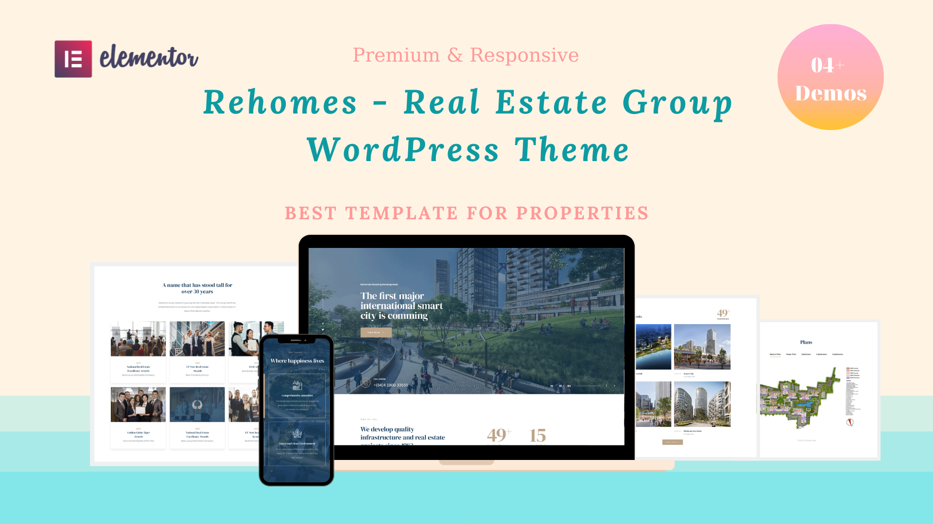 Rehomes Real Estate Group WordPress Theme