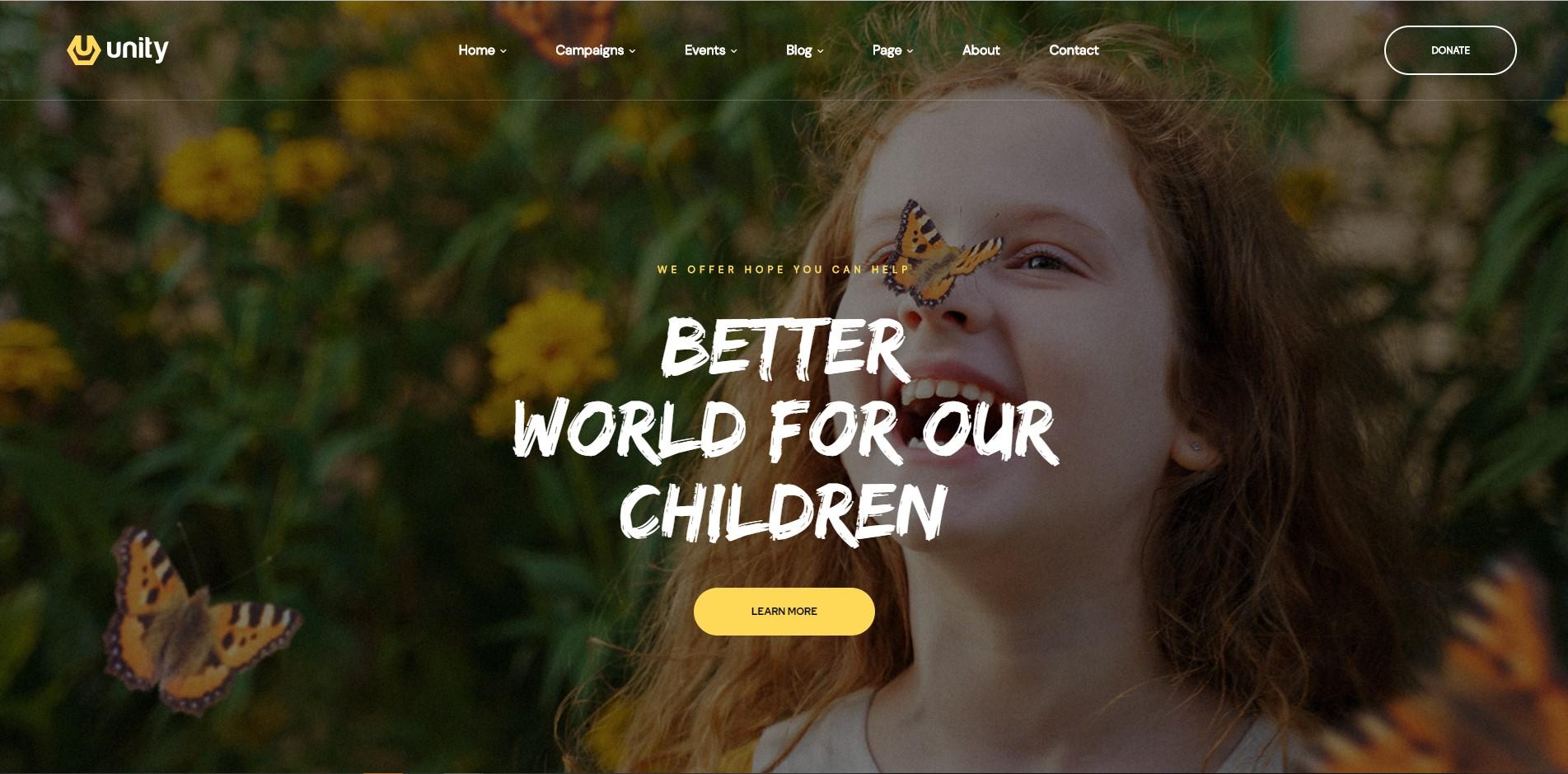 Unity - Crowdfunding WordPress Theme