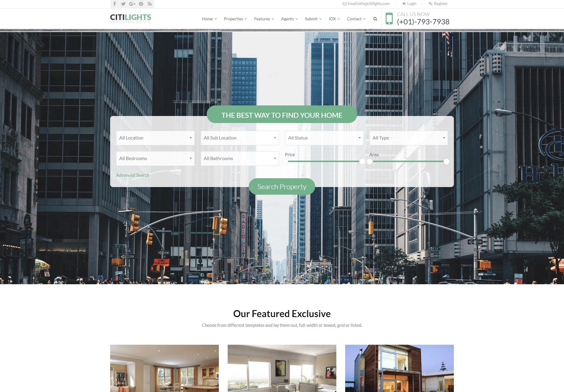 Citilight Real Estate WordPress Theme