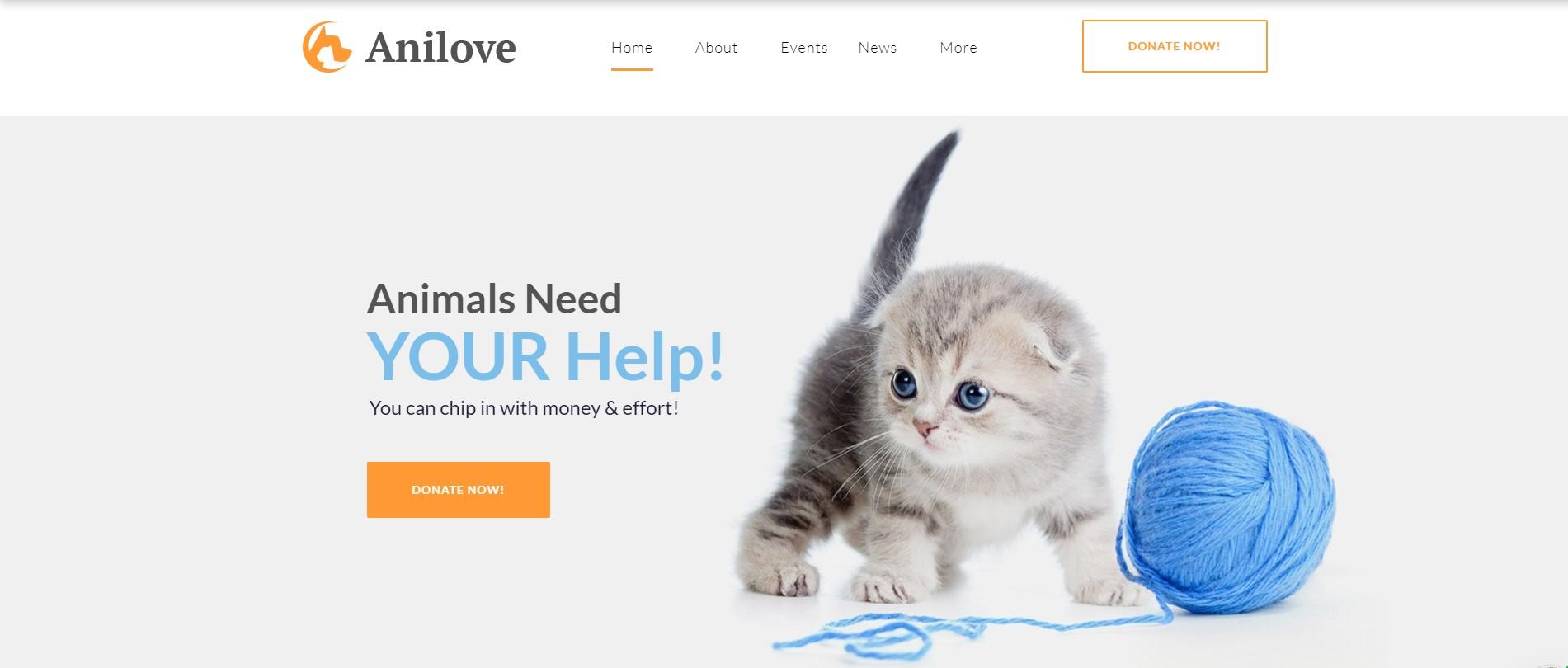 Anilove - Animal Pet Care WordPress Theme