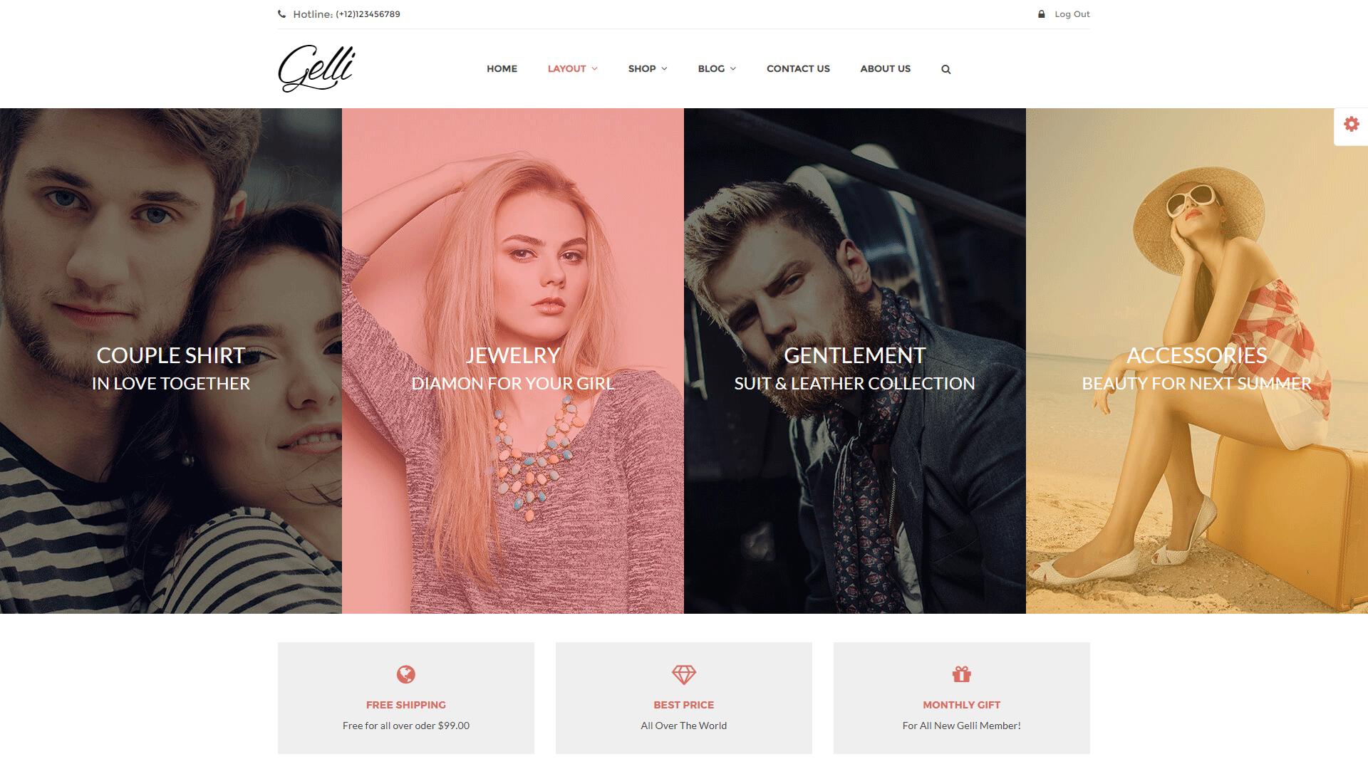 Gelli - WooCommerce Theme for Jewelry Perfume Accessories  Handmade Store