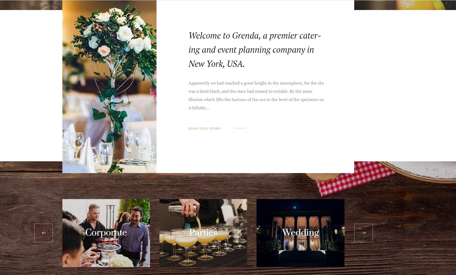 Grenda - Event Planning WordPress Theme