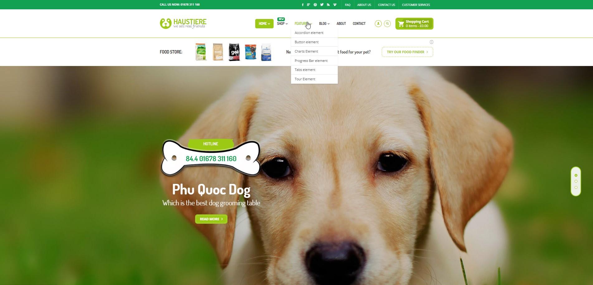 Haustiere - Pets Store RTL WooCommerce WordPress Theme