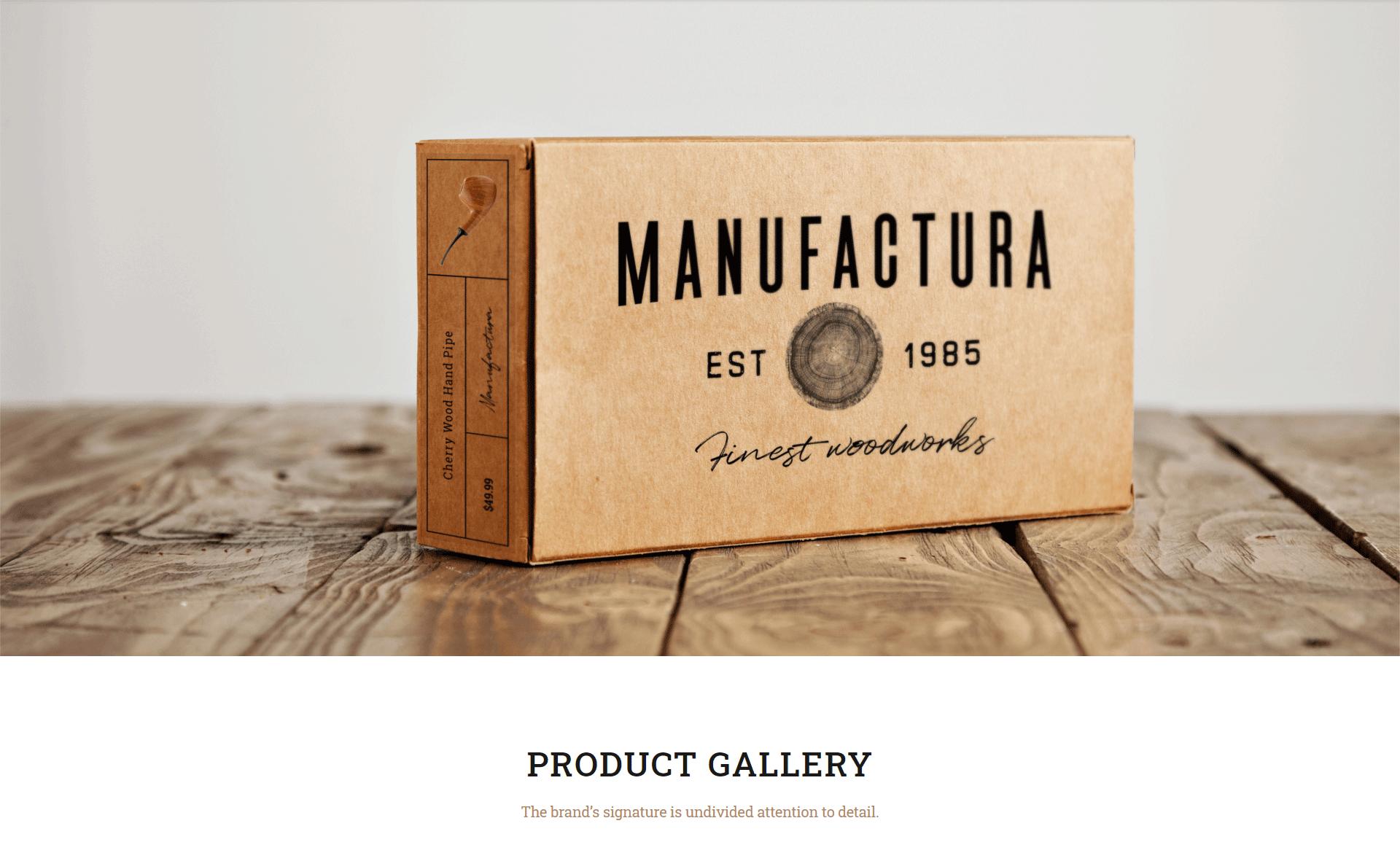 Manufactura handmade shop wordpress woocommerce theme