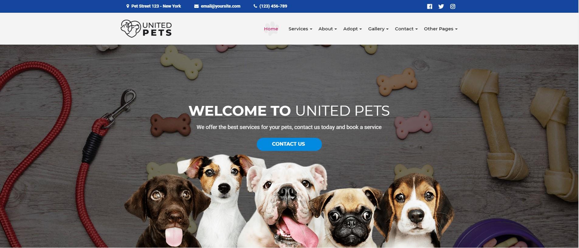 United Pets - Veterinary & Pet Care WordPress Theme