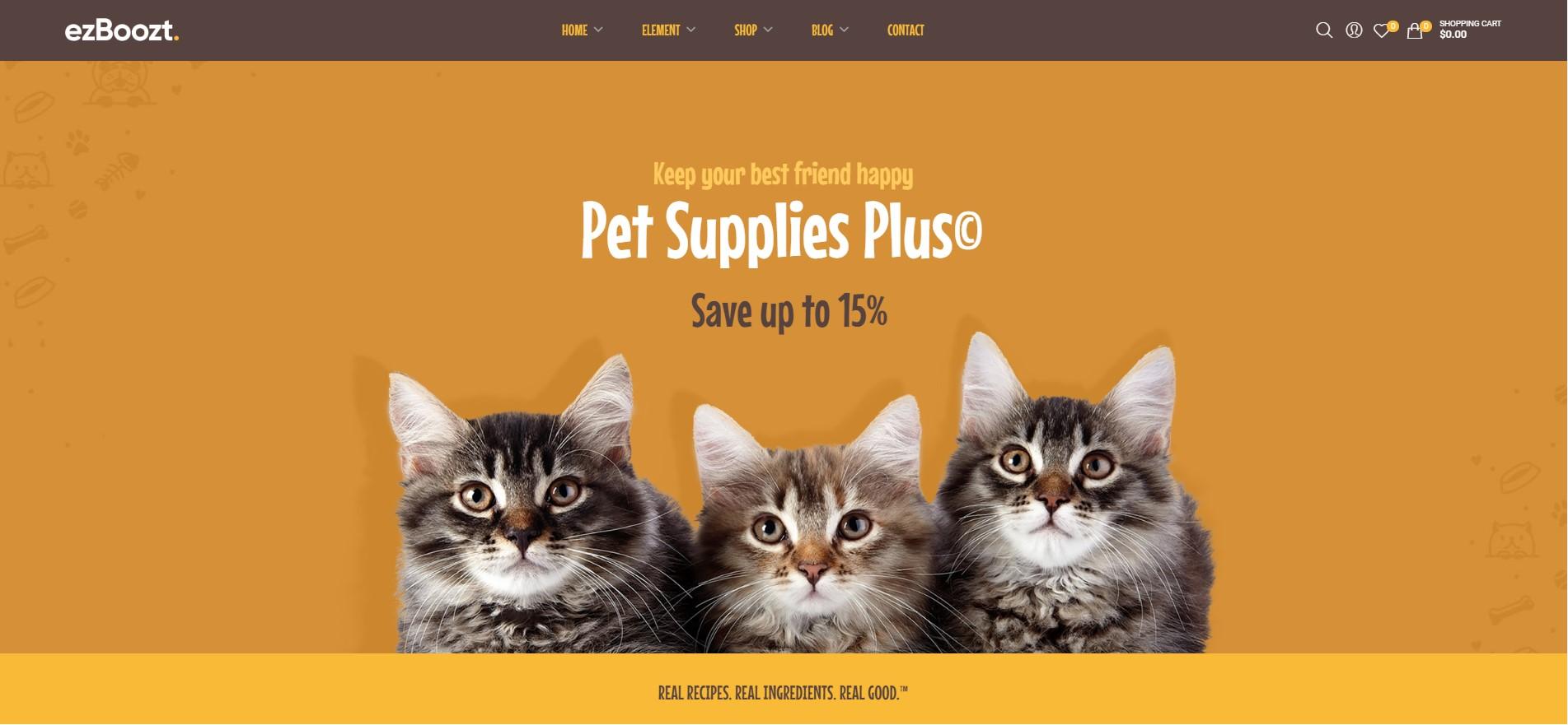 ezBoozt - All-in-one WordPress Theme - Pet Shop Demo
