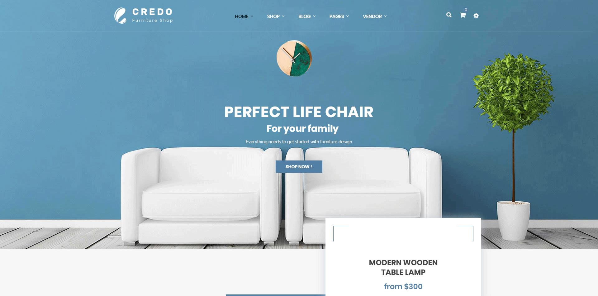 Credo | Handmade Furniture WooCommerce WordPress Theme