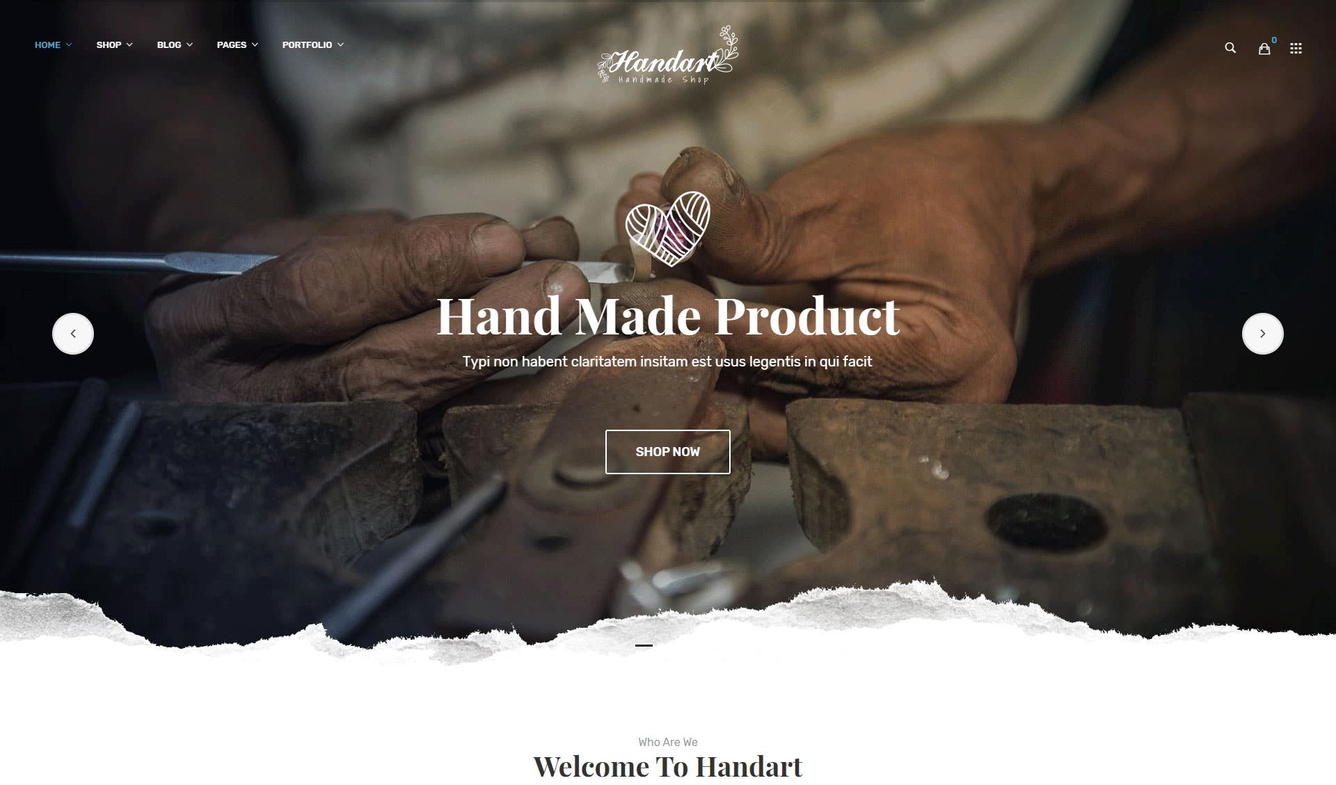 Handart - Handmade Theme for WooCommerce WordPress