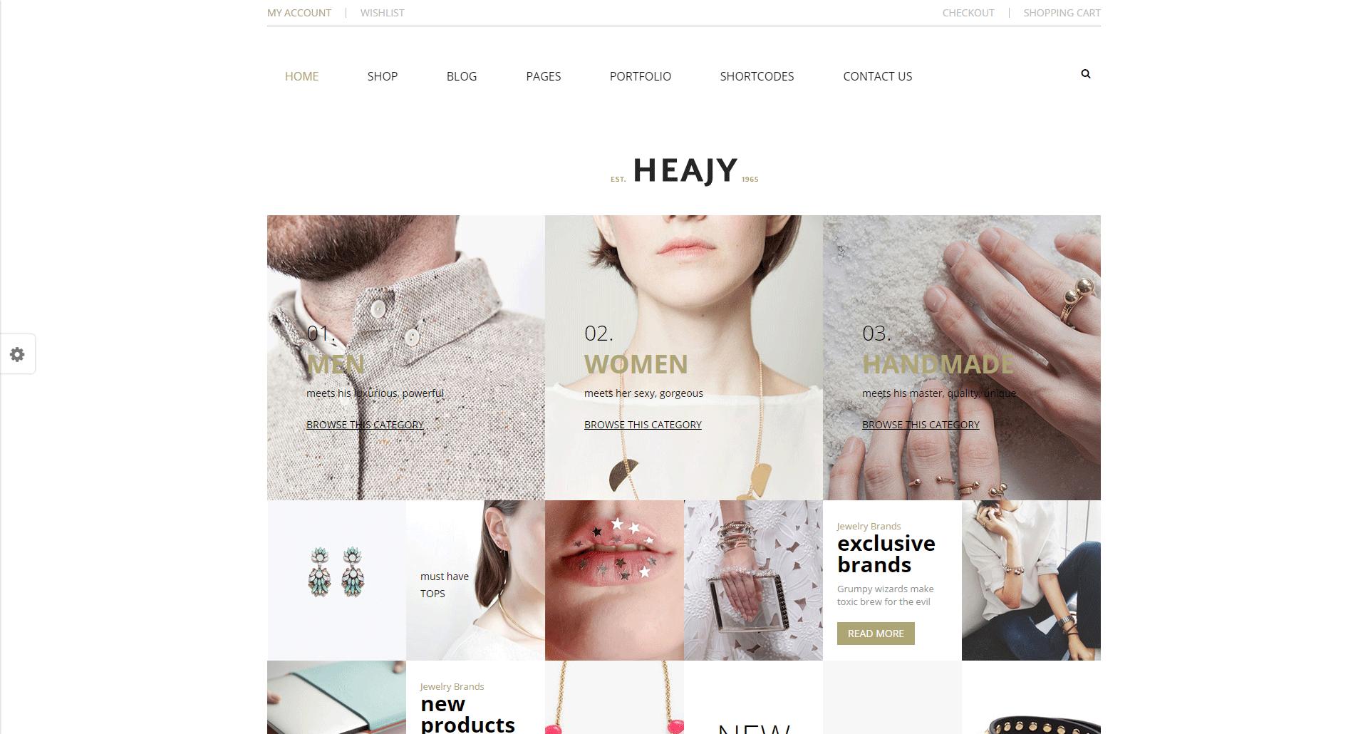 Heajy - Handmade Fashion WordPress Theme