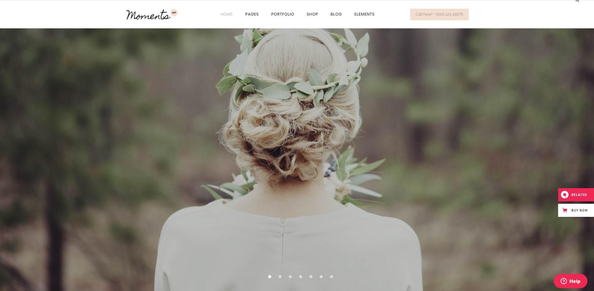 Moments - Wedding & Event WordPress Theme