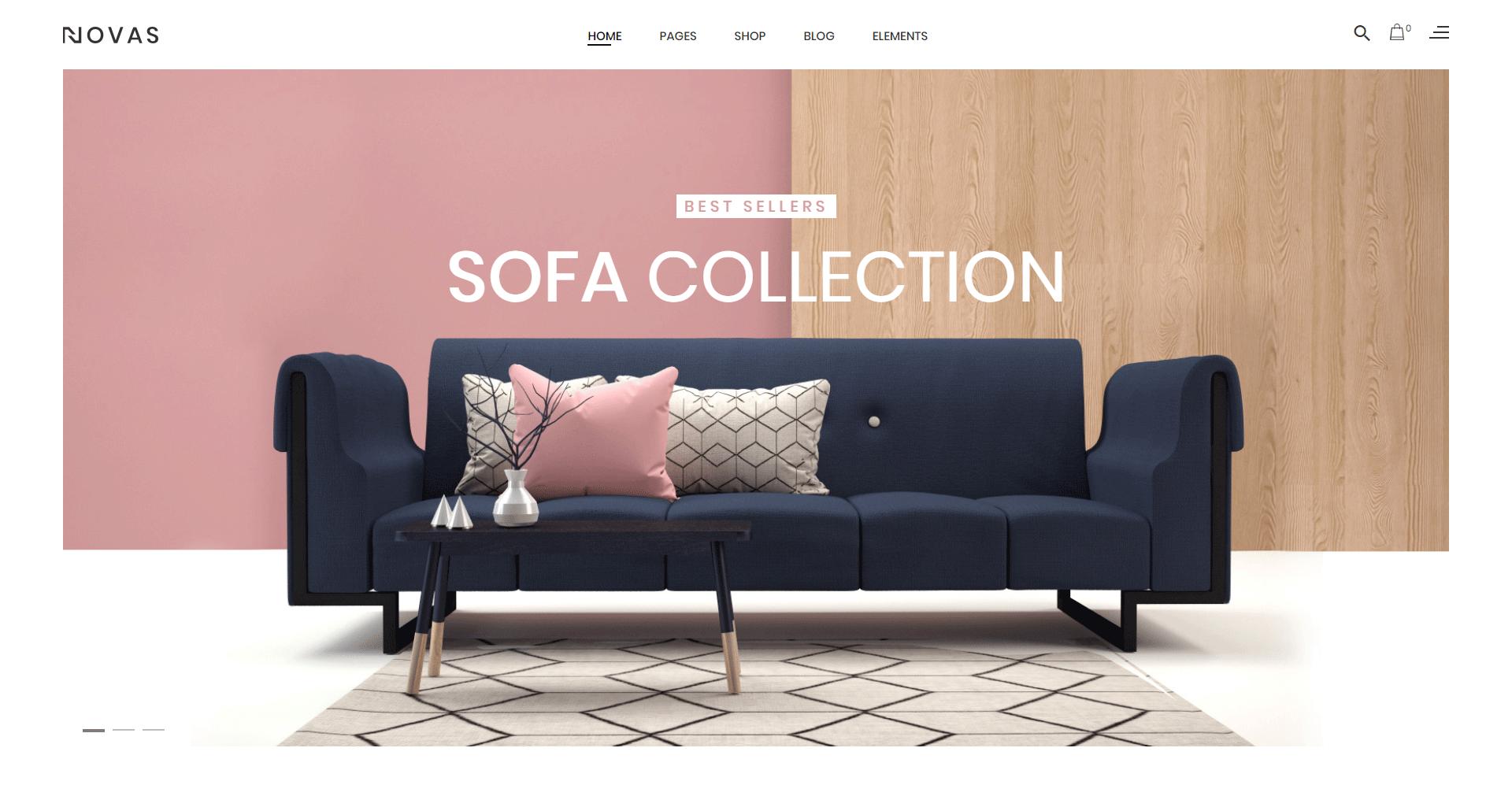 Novas - Furniture Store and Handmade Shop WordPress Theme